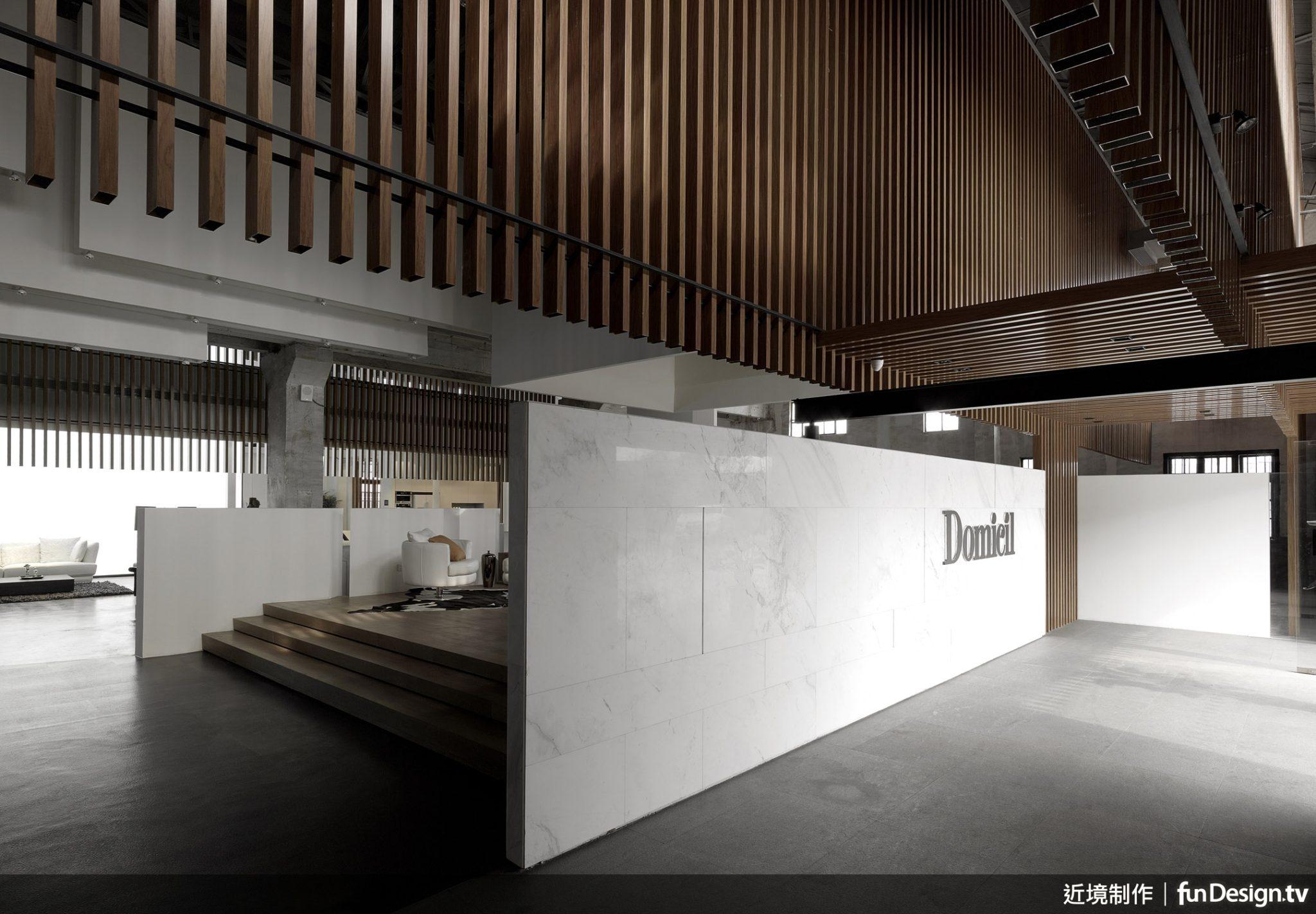 唐忠漢總監擅長運用石材作為設計元素,表現空間的恢弘。