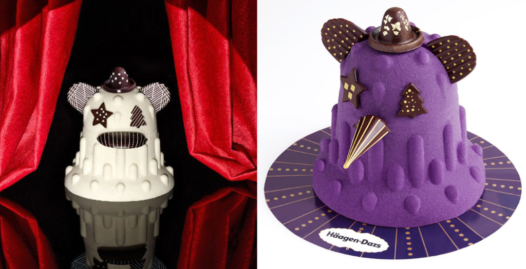 Designs cake creature for Häagen-Dazs。pic via hayonstudio