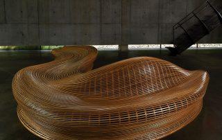 藝術家具木質曲線椅